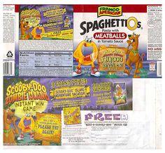 1998 Franco-American Spaghettios Can Label Scooby-Doo Hanna-Barbera   Flickr - Photo Sharing!