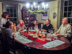 Friends at the table for the Viognier wine tasting