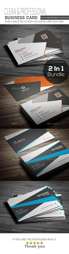 Business Card Bundle ( 2 In 1 ) - Corporate Business Cards Download here : https://graphicriver.net/item/business-card-bundle-2-in-1-/19318373?s_rank=168&ref=Al-fatih