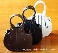 IW Style Violin Embroidery Handbag