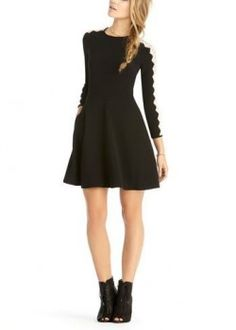 What Alison wears: Rachel Roy lace sleeve dress | Pretty Little Liars