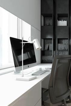 Black + White Desk Details. @littledreambird