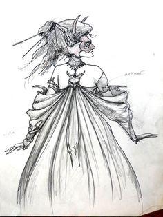 Woman Ballroom Costume Design II Froud Labrynith