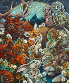 southwest decor magazines | Amy Ringholz, Dreamers Don't Sleep, ink/oil, 72 x 60.