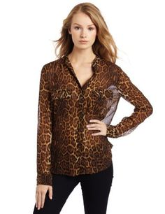 BCBGMAXAZRIA Women's Anderson Leopard Blouse With Cargo Pockets BCBGMAXAZRIA. $99.00. Dry Clean Only. Cargo pocket detail. 100% Silk. Relaxed fit. Made in China
