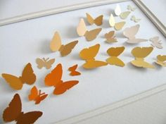 art with paint chip samples! by diane. Paint Sample Art, Paint Chip Art, Paint Samples, Diy Paper, Paper Crafts, Nifty Crafts, Craft Projects, Craft Ideas, Diy Ideas