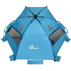 Sun SheltersOdoland Superfast Automatic Pop Up Instant Portable Outdoors Beach tentUPF 50 Sun ProtectionPolyester Tent For Kids Family Beach Camping ParkBig Extended Size 94x78Blue ** Find out more about the great product at the image link.