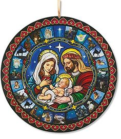 Glad Tidings Holy Family Nativity Christmas Advent Calendar: Manufactured by a Catholic owned and operated company with a heritage rich in tradition and a commitment to offering the finest selection of religious products. Diy Felt Christmas Tree, Christmas Nativity Scene, Christmas Scenes, A Christmas Story, Christmas Art, Xmas, Religious Gifts, Religious Art, Fabric Advent Calendar
