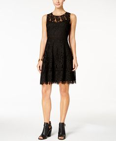 89.99$  Buy here - http://vilrd.justgood.pw/vig/item.php?t=lxo93a25304 - Lace Fit & Flare Dress 89.99$