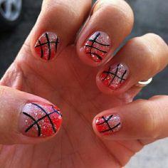 Red basketball nails