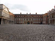 Dublin Castle forecourt - Over the years it has served as a military stronghold, a royal residence, a law court, a prison, a gunpowder store, and a treasury.