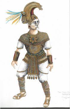 The Magic Flute (Sarastro). Costume design by Nancy Leary… Lyric Opera, The Magic Flute, Costume Design, Samurai, Theatre, Boston, Wings, Sketches, Costumes