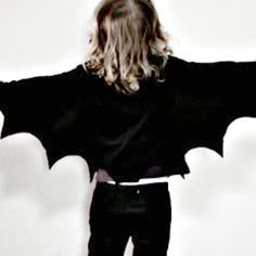 Simple and Spooky Bat Wings -  Halloween is always a fun time kids, but costumes from the store can get pretty expensive. Save some money by sewing your own costume like these Simple and Spooky Bat Wings. This easy Halloween costume is a snap to sew, even for beginners, and you can sew it by hand or with your machine. Your child will love pretending to fly around from house to house while trick-or-treating in this DIY Halloween costume.