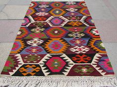 "VINTAGE Turkish Kilim Kelim Carpet, Handwoven Area Rug, Antique Kilim Rug,Decorative Kilim, 37,4"" x 51,1"" (95cm x 130cm)"