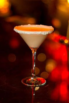 Carrot Cake Martini...2 oz Stoli Vanilla Vodka/Whipped Vodka/any Vanilla Vodka, ½ oz Goldschlagger/ Cinnamon Schnapps,1 oz carrot juice, 1 oz pineapple juice, 1 oz half and half 1 oz cream of coconut /2 barspoons of Coco Lopez, Cream Cheese Frosting on rim, Freshly grated Nutmeg.