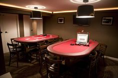 Poker room for the man cave
