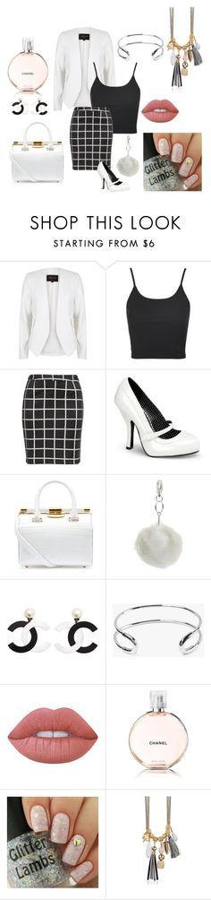"""Untitled #45"" by yasminaprlv ❤ liked on Polyvore featuring River Island, Topshop, Zizzi, Pinup Couture, Tyler Alexandra, Miss Selfridge, Giles & Brother, Lime Crime and Chanel"