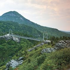 Grandfather Mountain in Linville, NC. A 360 degree view of endless mountains.