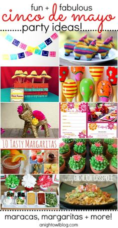 Here are some great Cinco de Mayo party ideas! They can also be used for a fiesta over the summer, too!