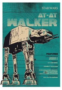 Star Wars Space Ships - AT-AT Walker by2 Toast Design