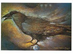 Susan Seddon Boulet postcard -- Raven
