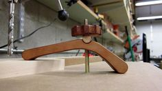 CNC cut cherry hold downs and knobs.