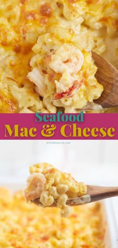 Elevate your favorite comfort food with this delicious seafood mac and cheese recipe. Made with shrimp and lobster, the sauce is made with three types of cheeses for a tasty bite full of flavor. Side Dishes For Bbq, Side Dish Recipes, Lunch Recipes, Dinner Recipes, Seafood Mac And Cheese, Shrimp And Lobster, Cheese Recipes, Shrimp Recipes, Pasta Recipes