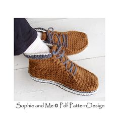 Lace Up Ankle Boots. Crochet pattern available!