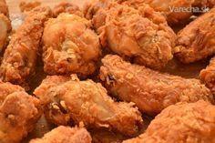 Kuracie krídelká ako z KFC - Recept Kfc, Food 52, Food Menu, No Salt Recipes, New Menu, Fried Chicken, Finger Foods, Chicken Wings, Food And Drink