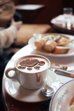 Noelle shares a post from a trip to Cafe Gitane with friends and a look featuring Coach. Coffee Vs Tea, Sweet Coffee, Coffee And Books, Good Morning Coffee, Coffee Break, Coffee Photography, Food Photography, Chocolates, Café Chocolate