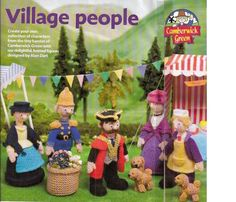 Alan DART_VILLAGE PEOPLE Chamberwick Knitting Pattern,Older_Child Doll TOY_RARE #AlanDart