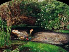 """Ophelia"" by John Everett Millais."