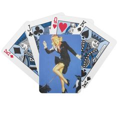 Lady In Black Pin Up Bicycle Card Deck $22.95