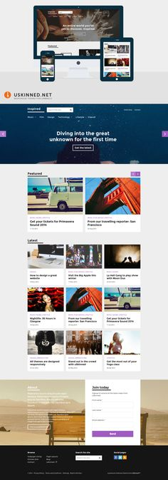 Umbraco CMS Starter Kit with Bootstrap theme - Inspired by uSkinned Corporate Website, Night Life, Wordpress, Editorial, Web Design, Language, Magazine, Inspired, Blog