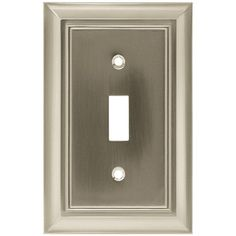 Hampton Bay Architectural 1 Toggle Switch Wall Plate - Satin Nickel-W10087-SN-UH - The Home Depot