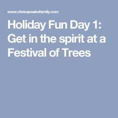 Holiday Fun Day 1: Get in the spirit at a Festival of Trees