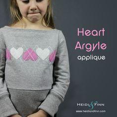 HeidiandFinn modern wears for kids: Valentine's Argyle Sweater - a tutorial Sewing Kids Clothes, Cool Kids Clothes, Sewing For Kids, Baby Sewing, Diy Clothes, Kid Clothing, Shirt Refashion, Diy For Girls, Diy Dress