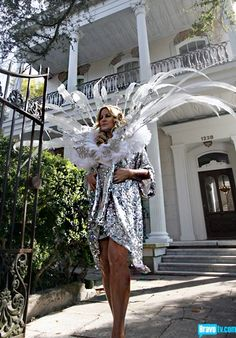 Looks a lot like Gracey Mansion: Talk abut Mardi Gras Mambo from Episode 3 of Bravo's 'Mad Fashion'