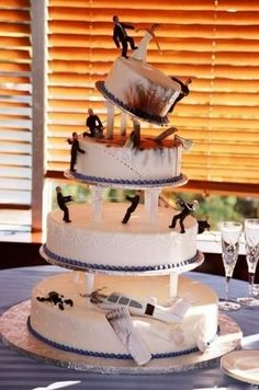Disaster Wedding Cake If you are going to spend then make or remind a memory.