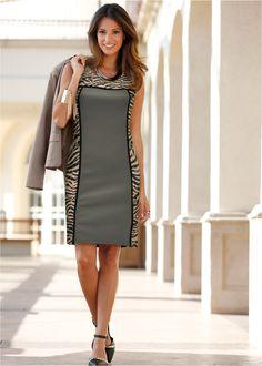 Vestido tubinho estampa de zebra cinza amarronzado/cinza fóssil/preto/branco encomendar agora na loja on-line bonprix.de  R$ 129,00 a partir de Tubinho ...