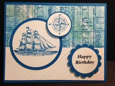 My Creative Corner!: The Open Sea, Birthday Card, Stampin' Up!, Rubber Stamping, Handmade Cards