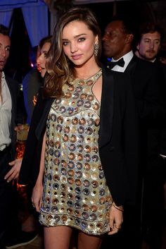 Miranda Kerr in Emilio Pucci at the 2015 Grammys After Party. [Photo by Charley Gallay/Getty Images for Warner Music Group]