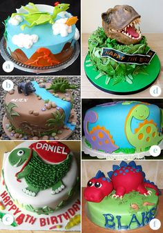 Image Detail for - Dinosaur Cakes - Round, Rectangle and Dinosaur-Shape Cakes | KandyOh ...