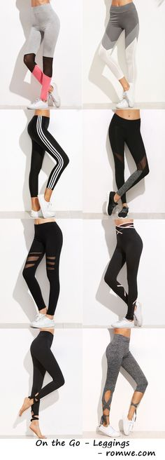 Sporty Leggings - Comfy and Chic from romwe.com