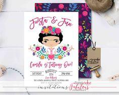 Frida Kahlo Birthday Party Invitation, Mexican First Birthday Fiesta Invitation, Mexican Fiesta Invitation, Fiesta Birthday DIGITAL FILE by SimplyFabulousCo on Etsy https://www.etsy.com/listing/530394119/frida-kahlo-birthday-party-invitation