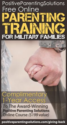 FREE online parenting training for Military Families.