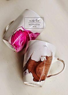 Decoritzion: Taza acuarela / Watercolor mug