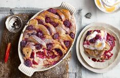 Try an exciting twist on French toast, with blackcurrant brioche, blackberries and lemon curd yogurt. See more Christmas breakfast recipes at Tesco Real Food. Breakfast And Brunch, Breakfast Bake, Yogurt Recipes, Baking Recipes, Brunch Recipes, Breakfast Recipes, Breakfast Ideas, Panettone French Toast, Tesco Real Food