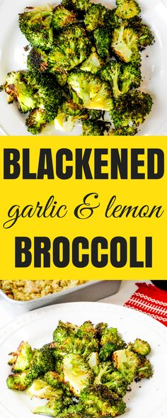 Blackened Garlic and Lemon Broccoli via @Ally\\\'s Cooking