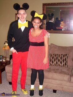 Mickey and Minnie Mouse - Halloween Costume Contest via @costumeworks